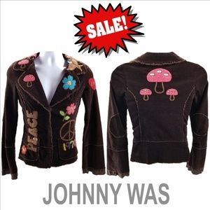 JOHNNY WAS 70's Peace Love Boho Hippie Blazer ⓈⒶⓁⒺ